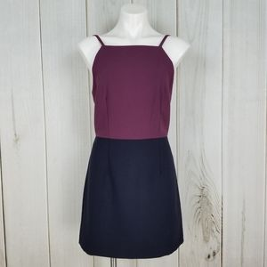 French Connection Purple Navy Blue Tank Dress